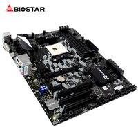 BIOSTAR X370GT5 RGB LED GAMING Motherboard Für Ryzen AMD 1700 1600 ATX Racing Computer DDR4 3200 2933 Unterstützung HDMI 4 Karat Resolut