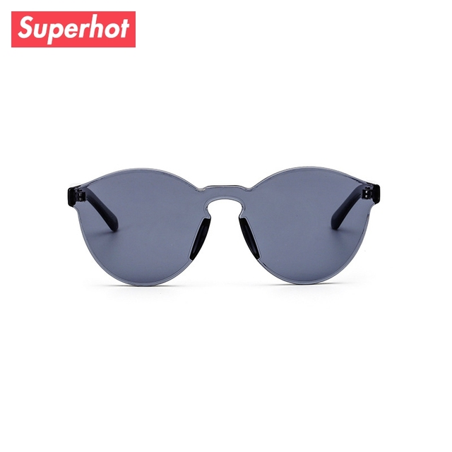 3807f1c3bc Superhot Eyewear - Fashion Sunglasses Men Women Siamese lenses Sun glasses  transparent tinted Jelly Color sunnies