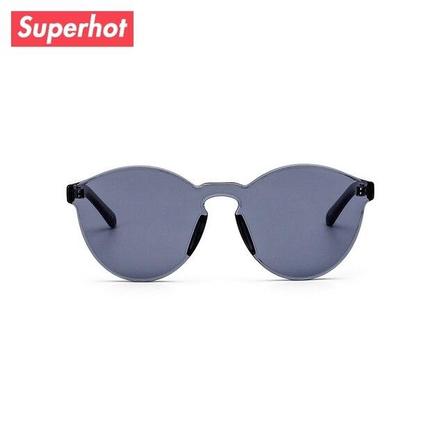 94a24da39d Superhot gafas-gafas de sol de moda hombres mujeres Siamés lentes gafas de  sol transparente