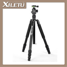 XILETU T284A+FB-1 Professional Aluminum Alloy Tripod&Ball Head and Removable Monopod For Canon DSLR Mirrorless Camera(China)