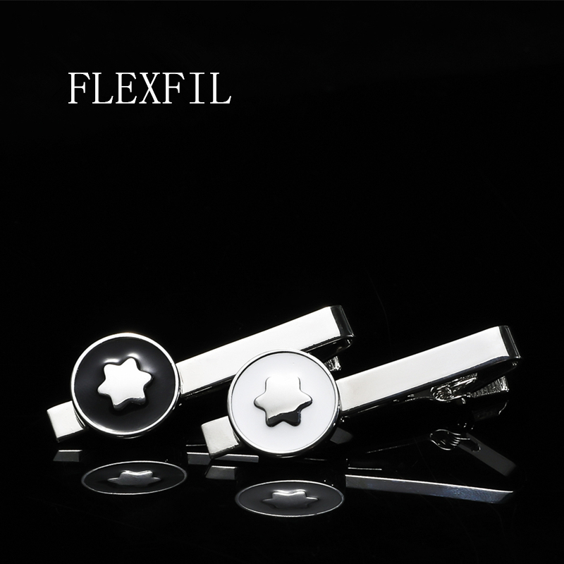FLEXFIL Men Tie Clip Stainless Steel Metal Tie Pin For Men Elegant Fashion Party Wedding Gifts Business Stickpin Accessories
