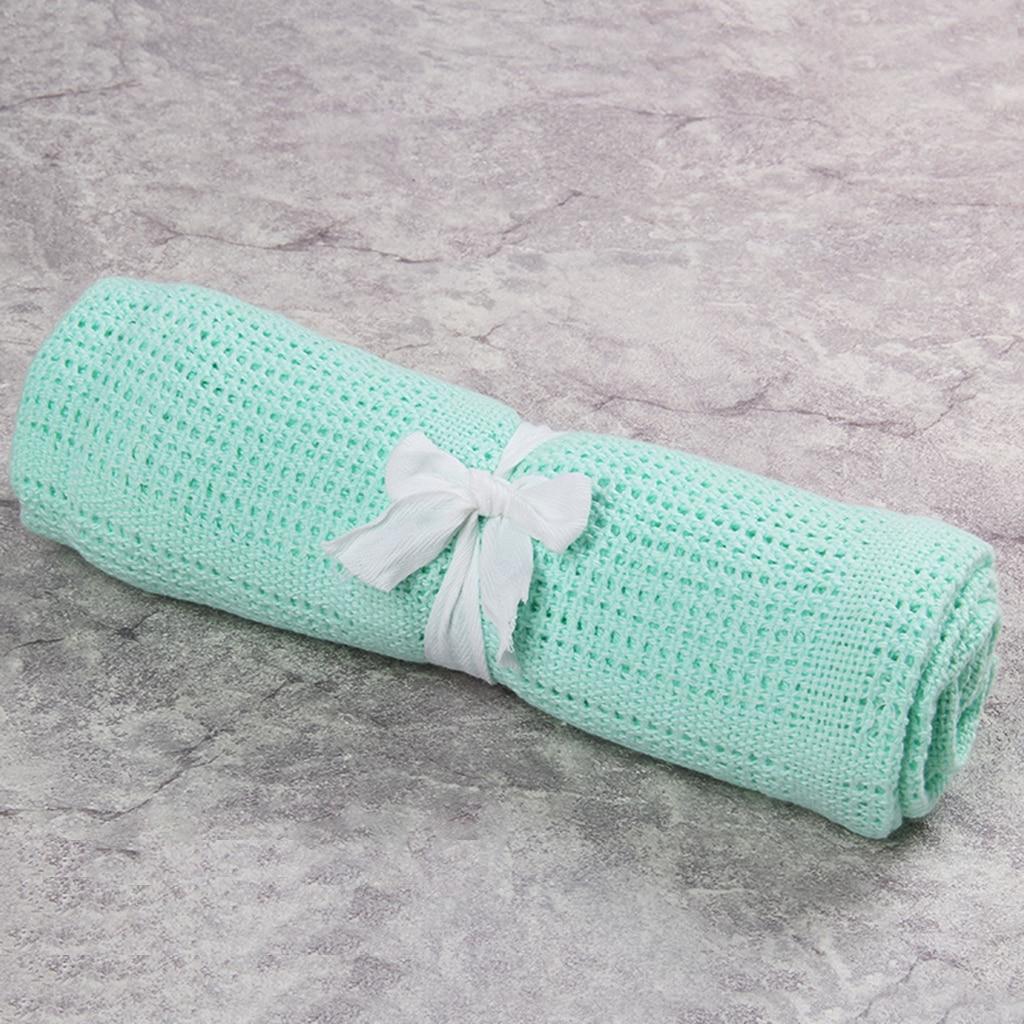 100/% Cotton Cellular Baby Throw Blanket Soft Breathable Pram Crib Moses Basket