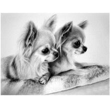 Chihuahua dog Diy diamond painting cross stitch animal mosaic full square round wedding decoration embroidery saleZP-872