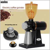 Xeoleo 250g Elektrische kaffeemühle Kaffee mühle maschine edelstahl box Anti-jump Flache Rad Schleifen maschine Kaffee grinder