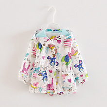Baby Graffiti Girls Jackets Coats Fall Coat Children Outerwear Clothes Kids Thick Hoodie for Girl Jacket Clothing Q2039