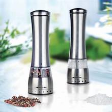 лучшая цена New Electric pepper mill salt and pepper the grinder free Shipping kitchen tools 2 piece
