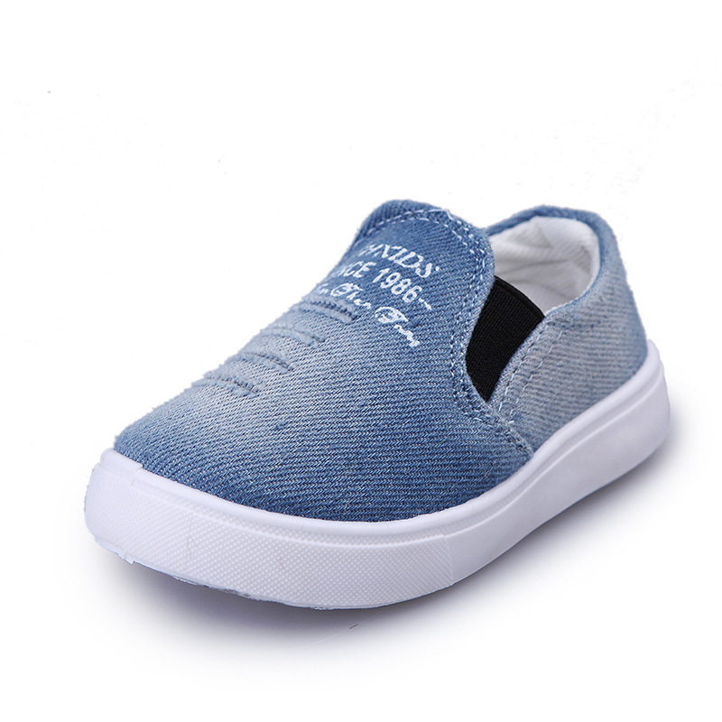 Hot SALE Children Shoes Girl Denim Canvas Shoes Kids Sport Shoes Spring Autumn Slip-On Fashion Europe Boys Sneakers Casual Shoes
