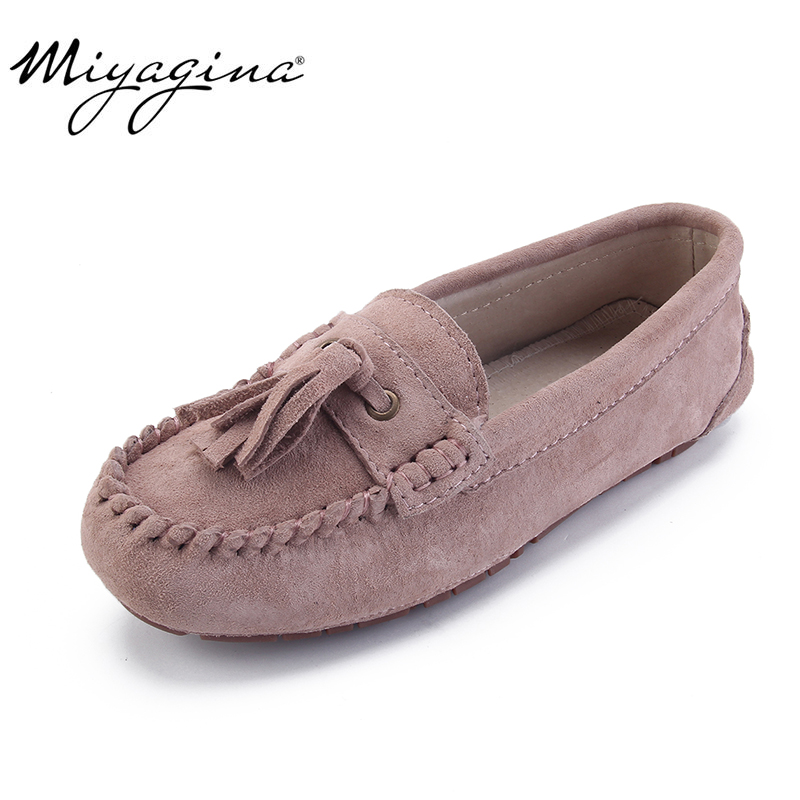 MIYAGINA 2019 kids shoes spring Summer girls sneaker fashion flats children Genuine Leather sneakers for girls causal shoes