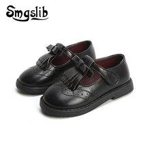 Girls Leather Shoes Kids School Children Pu Princess Party Dress Flat Little Baby Casual Sneaker