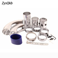 Universal Car Auto 3 76mm Air Intake Pipe Turbo Direct Cold Air Filter injection system Aluminum Alloy Intake Pipe Kit