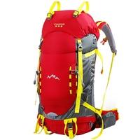 45L Outdoor Mountaineering Bag Large Capacity Metal Frame Backpack Waterproof Nylon Rucksack Climbing Camping Professional Bag