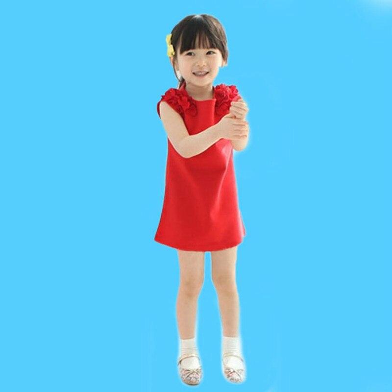 Girls Summer Dress Casual Dresses Kids Clothing Children Clothing Flower Sleeveless Cotton Girls' Dresses for 2-8Y Kids Wear 2
