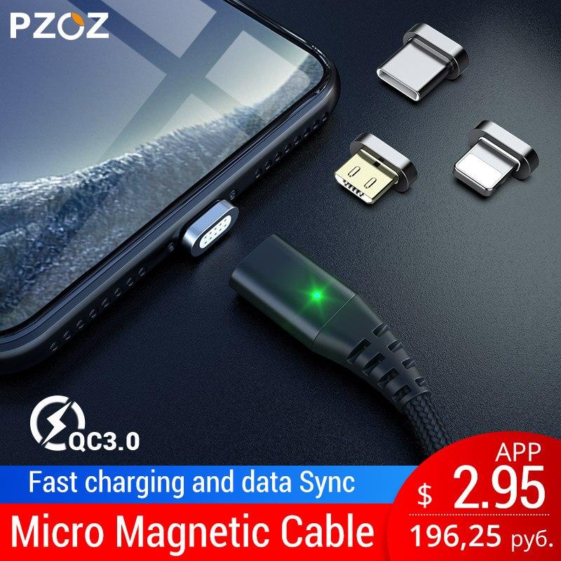 Ehrgeizig Pzoz Magnetische Kabel Micro Usb Typ C Schnelle Lade Adapter Telefon Microusb Typ-c Magnet Ladegerät Usb C Für Iphone Samsung Xiaomi Neue Sorten Werden Nacheinander Vorgestellt Handy-zubehör