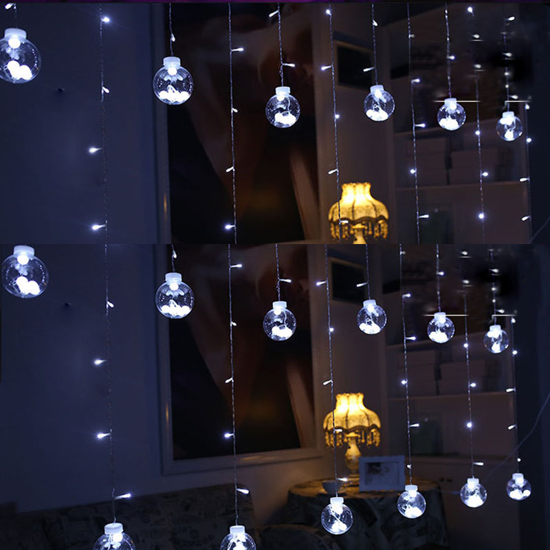 300cmTransparent Wishing Balls LED String Lamp Curtain Fairy String Lights 220V Home Romantic Wedding Party Decoration Lights 45
