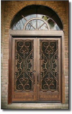 Best Selling Double Wrought Iron Doors Interior Doors TCD 0171