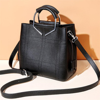 FoxTail & Lily Ladies Genuine Leather Handbags 100% Cow Leather Shoulder Bag All-match Women Messenger Purses Large Capacity