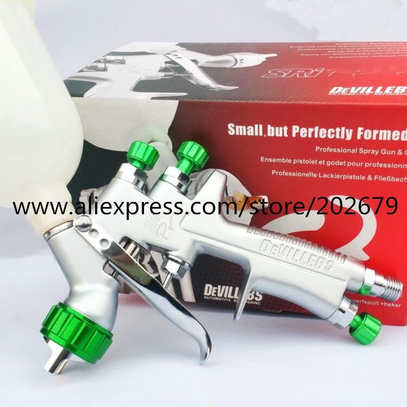 1 2mm spray gun paint spray gun DEVILLEBS mini spray gun Gravity Feed Paint pot volume