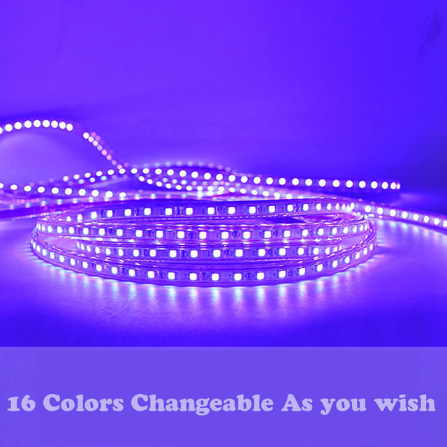gd led strip ip65 5m 6m 7m 8m 9m 10m 11m 12m 13m rgb led strip 5050 waterproof led verlichting neon light 220v led strip lights