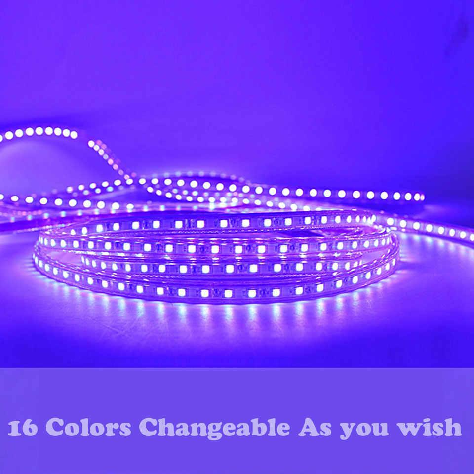 GD LED strip Ánh Sáng IP65 5 M 6 M 7 M 8 M 9 M 10 M 11 M 12 M 13 M RGB Led Strip 5050 Không Thấm Nước Led Neon Ánh Sáng + IR Điều Khiển Từ Xa