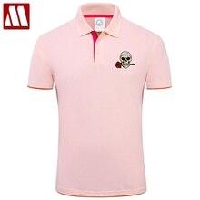Polo-Shirt Rose Camisetas Short-Sleeve Embroidery Contton Men's Casual Fashion Summer