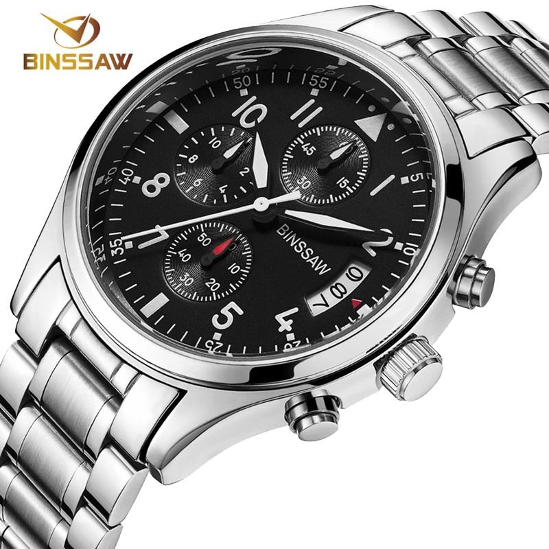 c77d2db1a89 BINSSAW novos homens militar relógios originais esportes luminosos relógio  de negócios de moda de luxo em