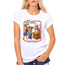 summer ouija T shirt women satan tshirt scary evil demon death alien grim reaper female T-shirt american horror story Tops Tee
