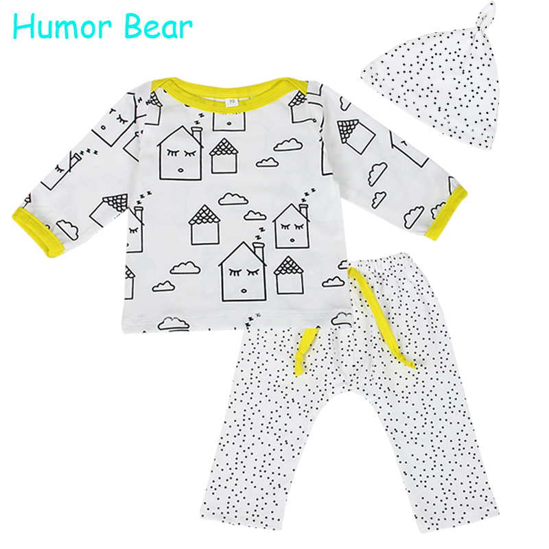 Humor Bear Baby Clothes Autumn Baby Boy Clothing Set Boys