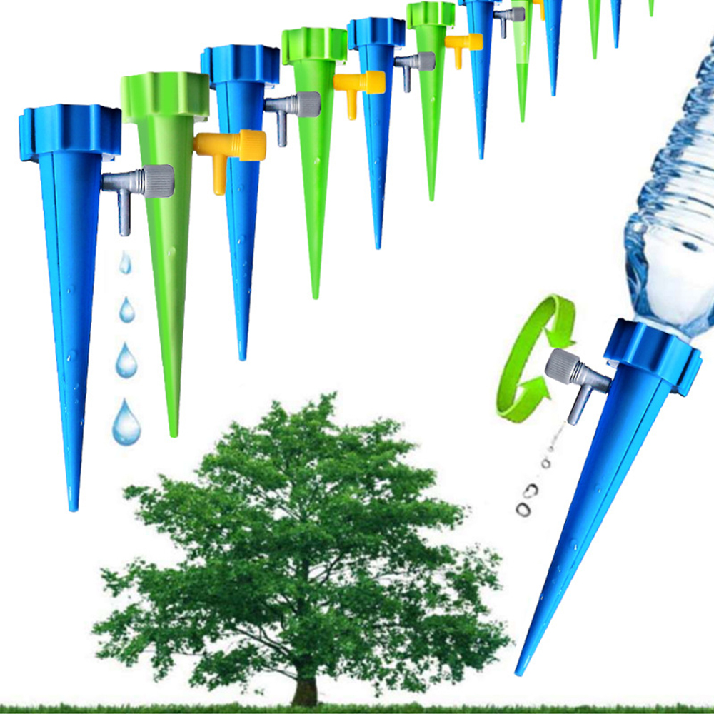 12Pcs Automatic Self-Watering Device Spikes Flower Plant Irrigation Tool Adjustable Water Spray Tips