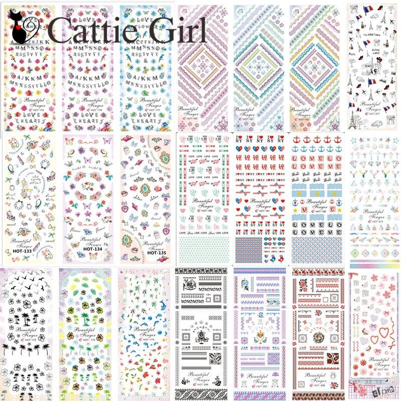 3sheets 1set Halloween Water Decal Sticker Flower Nail Art Transfer Stickers  Skull DIY Manicure Summer Nails 3a67cdbbffbf