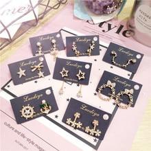 Korea Handmade Star Ballet Anchor Dipper Rhinestone Women Drop Earrings Dangle Earrings Fashion Jewelry Accessories-JQD5 все цены