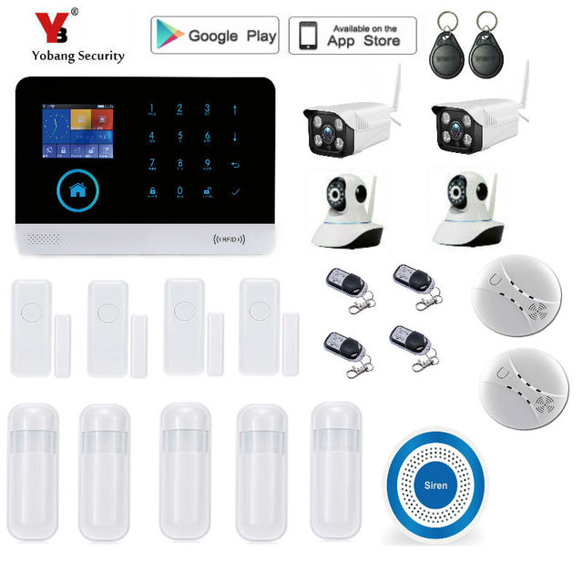 Best Offers Yobang Security Wireless wifi SMS Home GSM Alarm system House intelligent DIY Burglar Security Alarm System