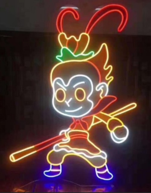 Custom Monkey King Neon Light Sign Beer Bar