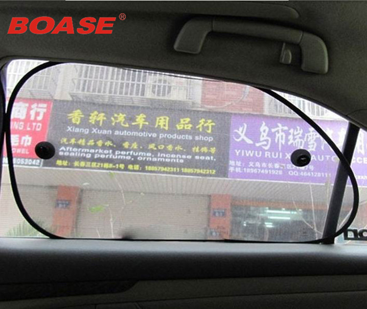 2 יחידות 65 * 38 צד שחור מכונית שמשיה צל שמש חלון אחורי כיסוי מסך מגן נגד מגן מסך הגנה מפני שמש