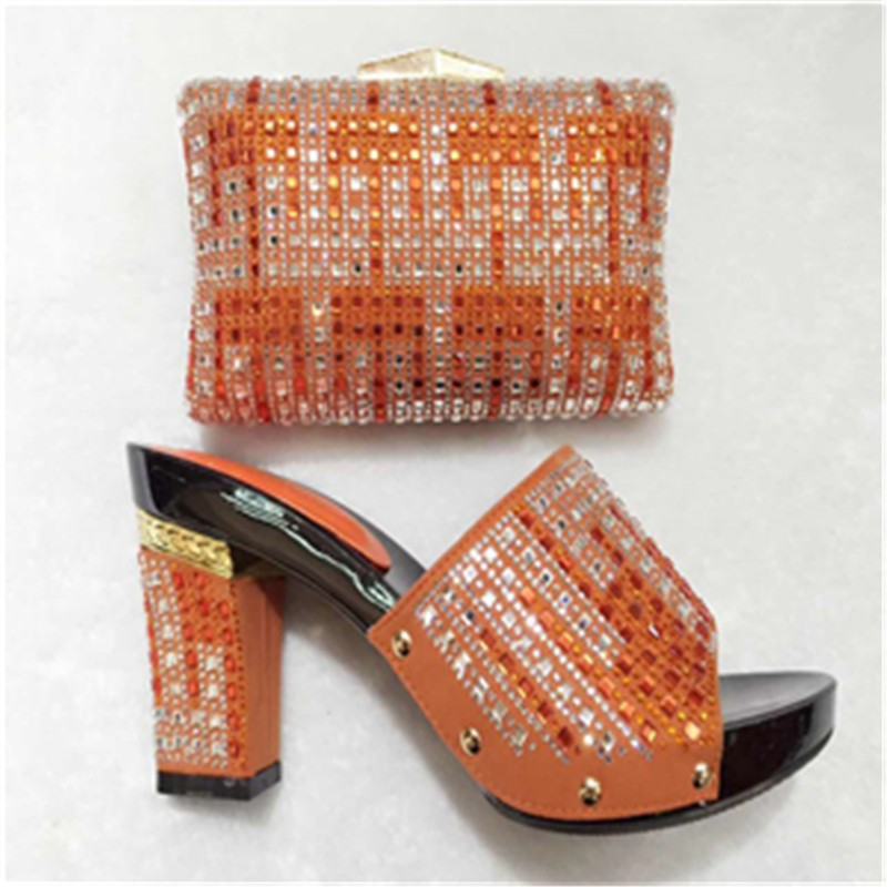 ФОТО Wholesale Italian Ladies Matching Shoes And Bags Set For Party Women Sandal High Class Wedding Shoes Matching Bag Set TT10