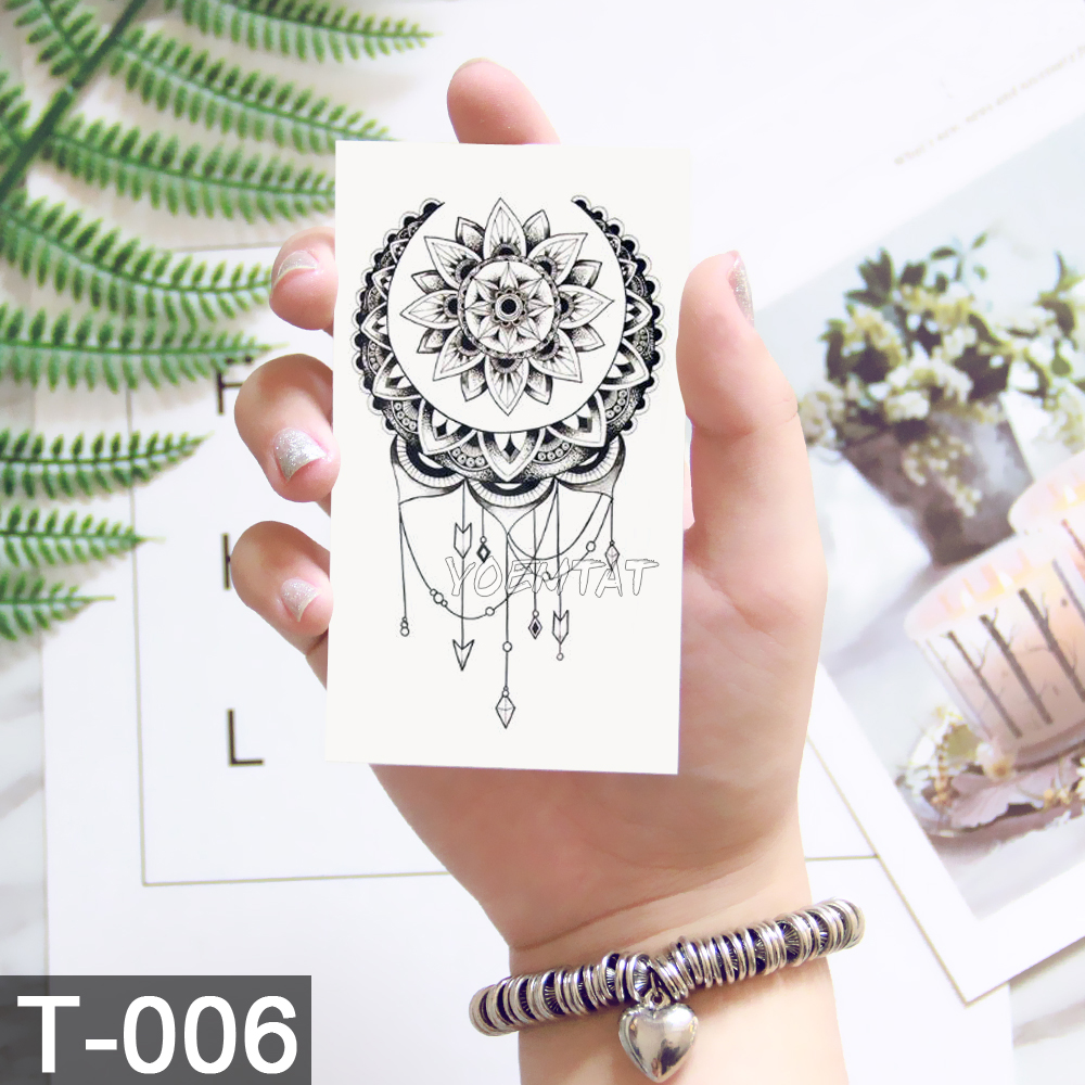 New Waterproof Temporary Tattoo sticker old school rose pattern tattoo Water Transfer tattoo flash tattoo 3
