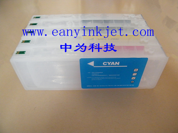 9700 7700 refillable ink cartridge with chip for Ep Stylus Pro 7700 9700 7710 9710 printer waste ink tank chip resetter for epson 9700 7700 7710 9710 printers maintenance tank chip reset