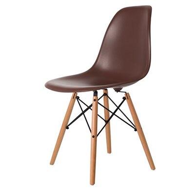 Полипропилен Дерево DIY обеденный стул современный дешевый обеденный бар встречи гостиная Кофейня бук деревянный стул Лофт стулья мебель для дома - Цвет: HH381300CO
