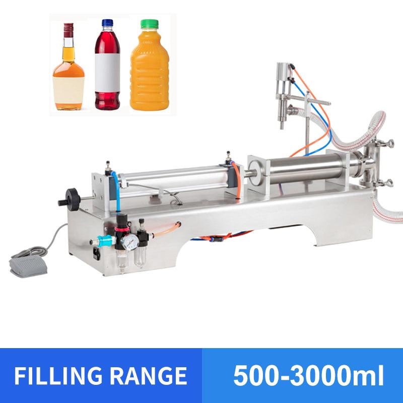 OLOEY 500-3000ml Single Head Liquid Softdrink Pneumatic Filling Machine Carbonated Drink Filling Machine