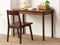 Solid Wood Home Office Furniture Small Computer Desk White Oak Walnut Finish Modern Luxury Elegant Writing