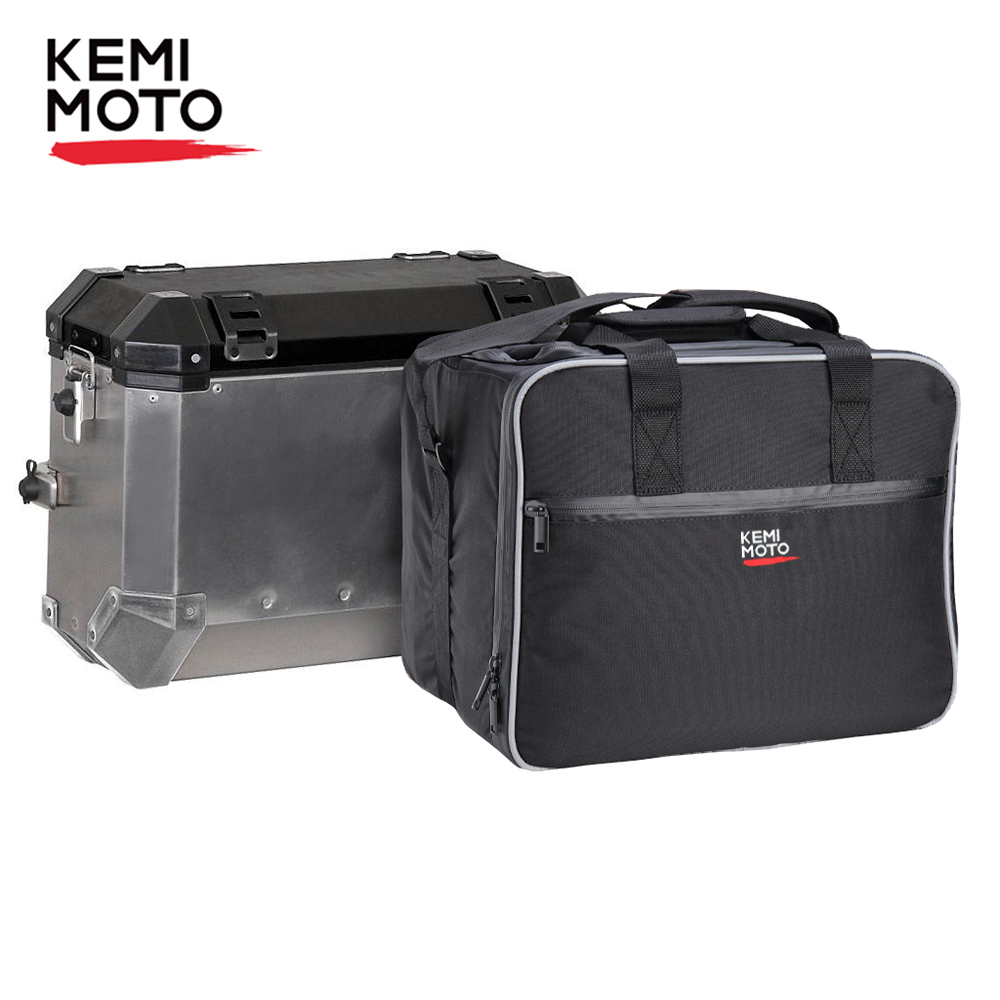 KEMiMOTO Motorcycle Luggage Bags For BMW R1200GS Adv Black Inner Bags R 1200 GS Adventure WATER-COOLED 2013-2017