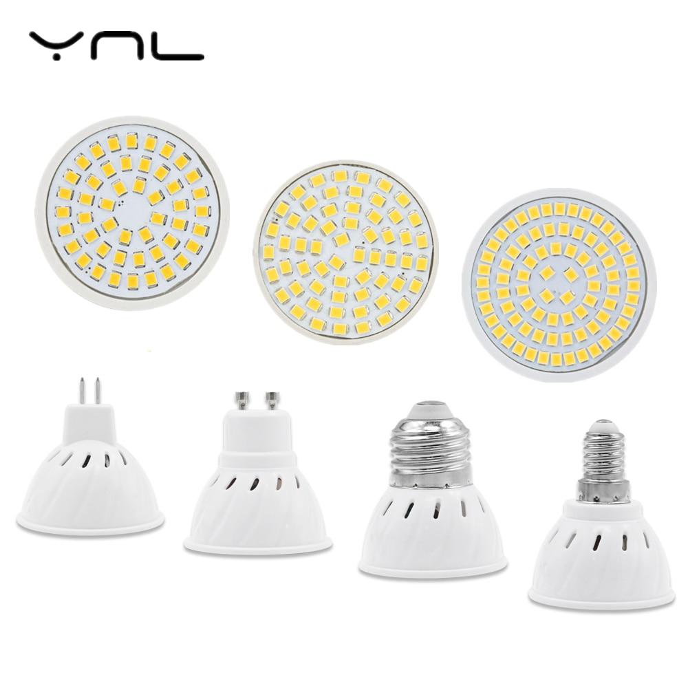 YNL LED Lamp GU10 MR16 E27 E14 Led Lampada Spot light 220V High Bright Bombillas LED Bulb SMD2835 48/60/80 LEDs For Spotlight skkd100 16 skkd100 14 skkd100 12 valley spot hskk