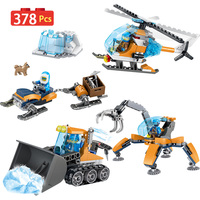 378PCS Technic Blocks LegoINGLYS City Arctic Supply Plane Scout Truck Air Transport Plane Building Bricks Kids Toys For Boys