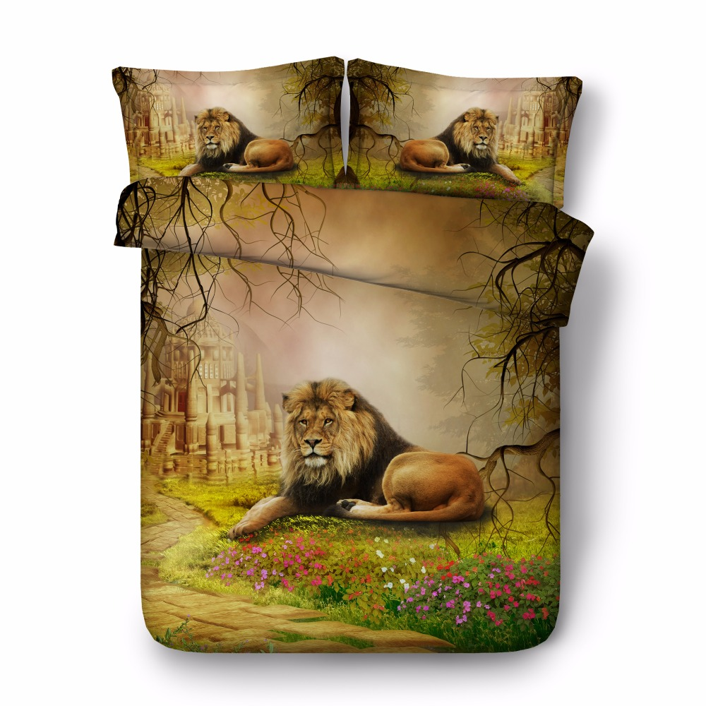animal bed cover sets 3D lion conforter set nature bedroom decor egyptian cotton bedding queen size bedspread adult home textileanimal bed cover sets 3D lion conforter set nature bedroom decor egyptian cotton bedding queen size bedspread adult home textile