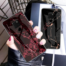 Marble smooth tempered glass case for Huawei P30 20 10 Lite Pro Plus P20X Mate Nova 3 4