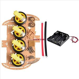 Image 5 - Avoidance tracking Motor Smart Robot Car Chassis Kit Speed Encoder Battery 2WD 4WD Ultrasonic module For Arduino