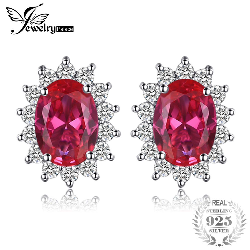 and tcw halo stud red simulated ruby cut gold zirconia marquise yellow plated earrings cubic