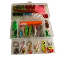 (136pcs/Set) Fishing Lures Set Frog Squid Hard And Soft Lure For Fresh Water Saltwater Spoon Metal Bait