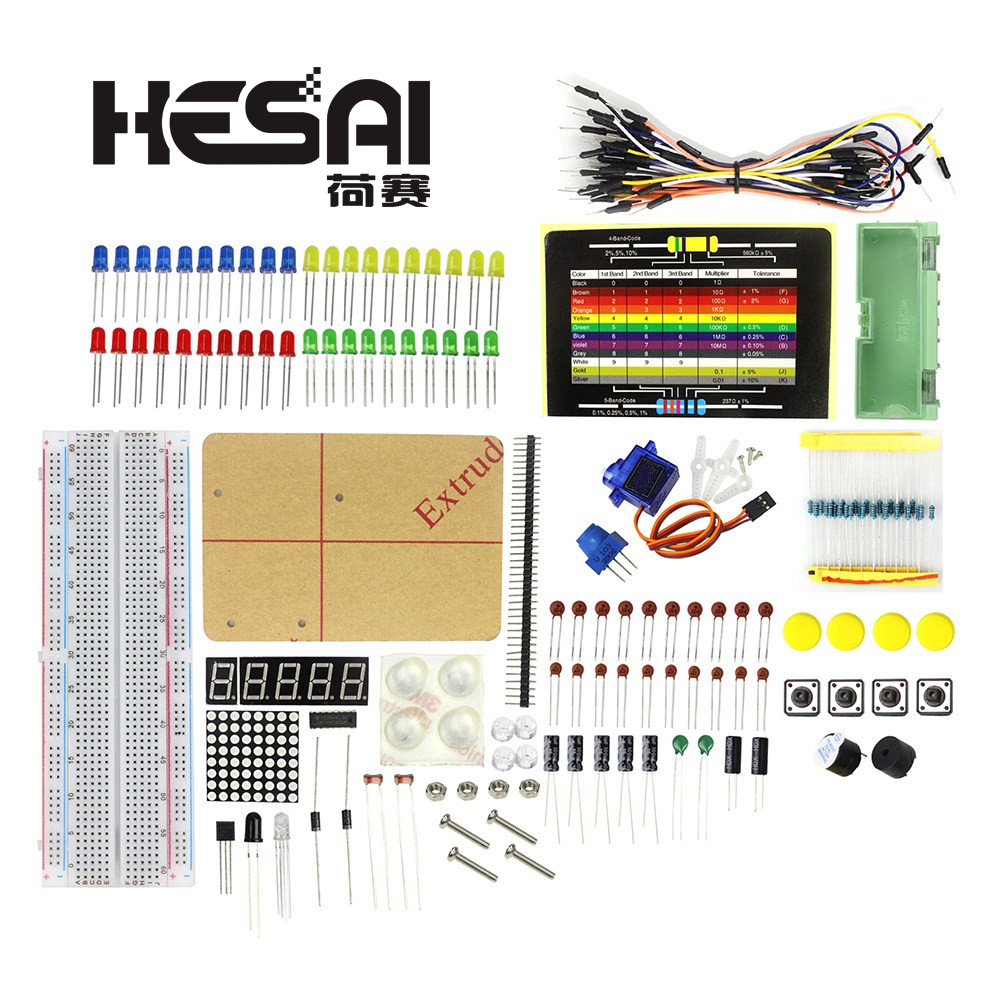 Smart Electronic Parts Pack Package/ Electronic 830 Breadboard Starter Kit for arduino DIY Kit