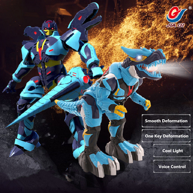 Electric Pet Deforamtion RC Dinosaur Toy JQ6610 One Key Deformation Dinosaur Human Warrior Voice Intelligent Control Boy Gift