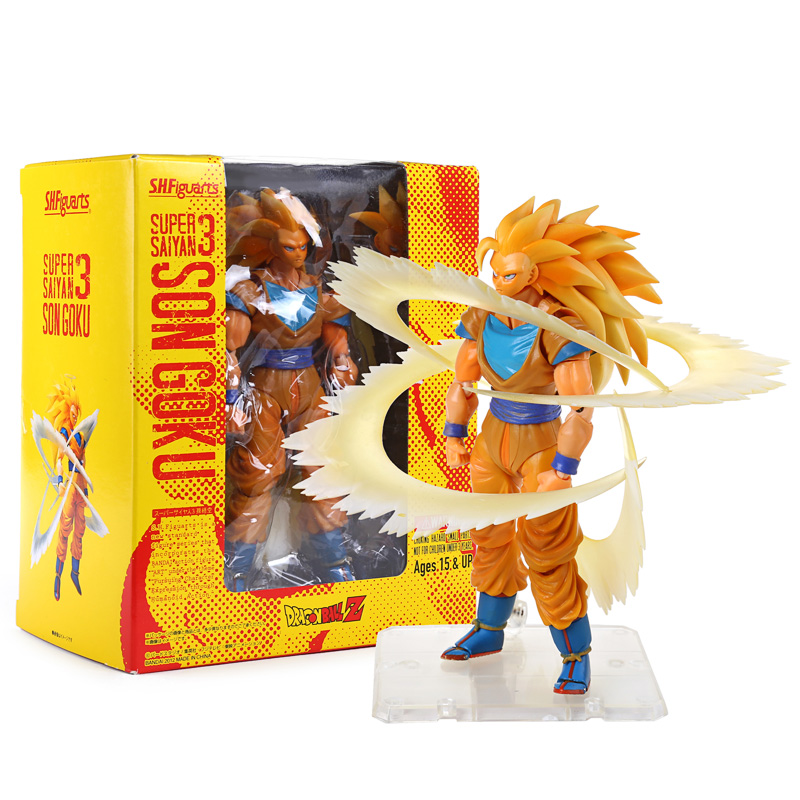 Anime Dragon Ball Z Super Saiyan 3 Son Goku PVC Action Figure Collection Toy 6 14CM new hot 21cm dragon ball super saiyan 3 son goku kakarotto action figure toys doll collection christmas gift with box sy889